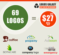 69 Customizable Logos - only $27!