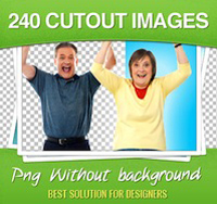240 Stock Images WITHOUT Backgrounds - only $23!