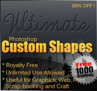 Photoshop Shapes MegaBundle - 98% off!