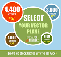 Vector Mania! Up to 4400+ vectors - from $27!