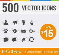 500 Vector Pictograms - only $15!