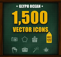 A Ginormous Bundle: 1,500 Vector Icons - only $27!