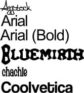 Sample Fonts 1